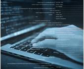 Hacker an Tastatur