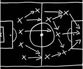 Strategische Anspielstationen Fussballfeld