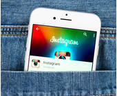 Instagram-App in Hosentasche