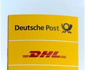 Deutsche Post auf einem Schild
