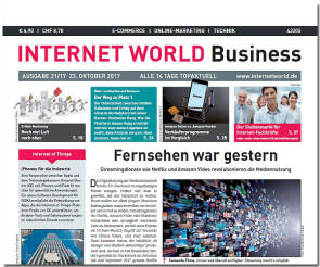 Cover der Ausgabe 21-2017 von INTERNET WORLD Business