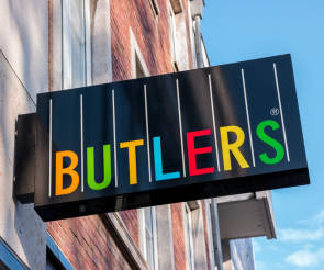 Bulters Logo an Hauswand