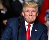 Ein glücklicher Donald Trump