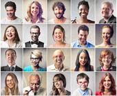 Gesichter von Menschen