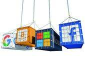 Google-Amazon-Microsoft-Facebook-Container am haken