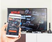 Netflix auf dem Smartphone und TV