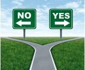 Entscheidung zwischen Ablehnung oder Zustimmung