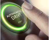 Knopf auf dem autonomous Drive steht